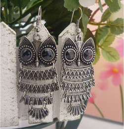 Wholesale Owl Charms Resin - Nice Jewelry 1Pair Lady Women Charm Jewelry Owl Stud Earrings Dangle Hot New Brand Free Shipping