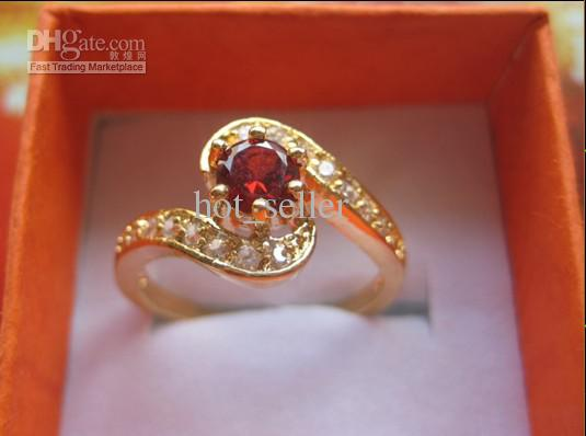 Womens Yellow Gold Ring 14kt Beautiful Filled Ring Ring 1 8ct Ruby