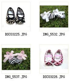 Wholesale Wholesale Leopard Crib Shoes - 36pairs lot mix color Infant Baby Girls Hot Pink Crib Shoes Zebra leopard Bow,baby toddler shoes