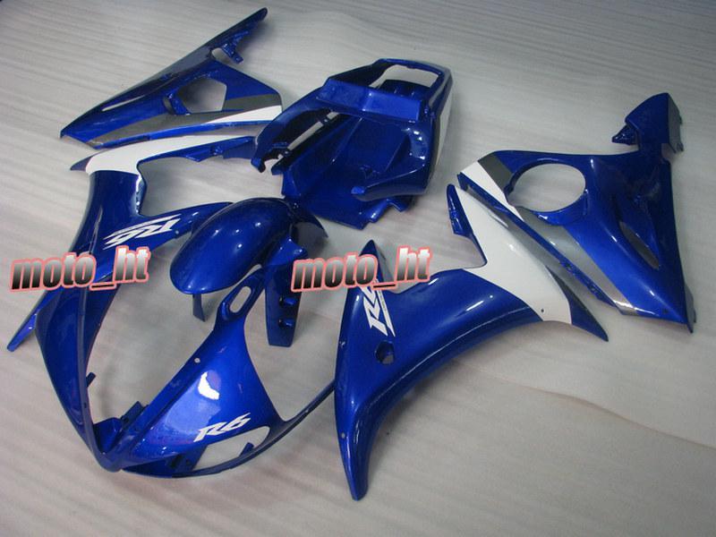 Carenados ABS de color blanco azul para YAMAHA YZF-R6 2003 2004 2005 YZF R6 03 04 05 yzf600 YZFR6 03-05 Carenados