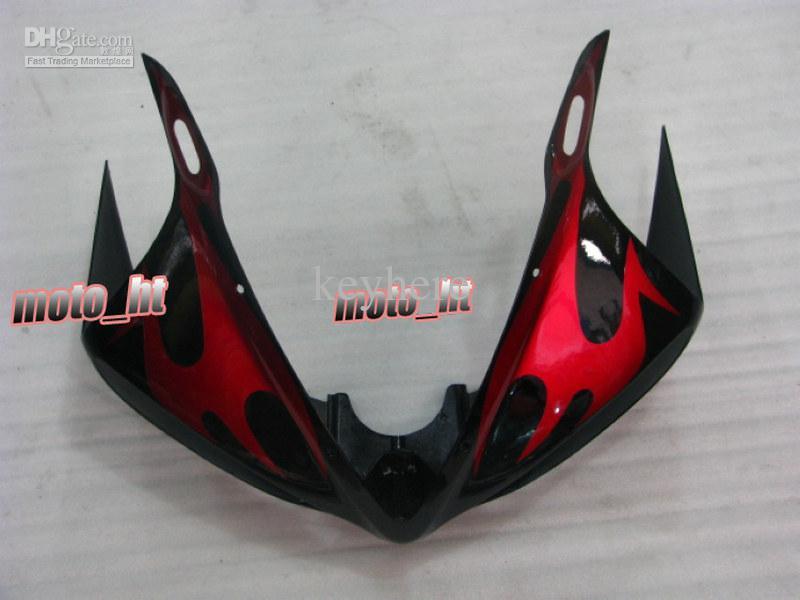 Caretas de ABS de llama roja para Yamaha YZF-R6 2003 2004 2005 YZF R6 03 04 05 yzf600 YZFR6 03-05 Carenado