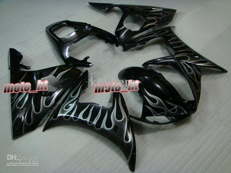Silver Flame Motor Backings Kit voor Yamaha YZF-R6 2003 2004 2005 YZF R6 03 04 05 YZF600 YZFR6 03-05