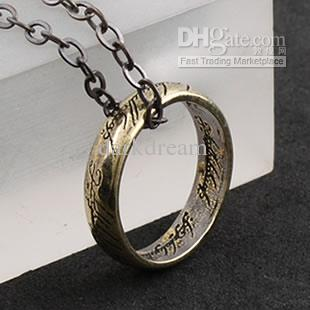 Wholesale the lord of the rings pendant necklace punk jewelry gothic wholesale the lord of the rings pendant necklace punk jewelry gothic style unisex ancient copper a locket necklace mens necklaces from darkdream aloadofball Choice Image