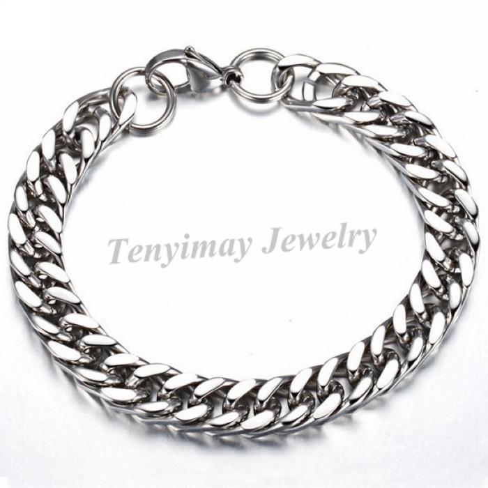 Free ship men's titanium steel bracelet, titanium jewelry, men's jewlery, stainless link bracelet