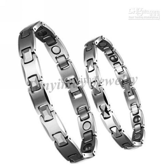 Brazaletes de tungsteno de alta calidad para hombres o mujeres, pulseras curativas magnéticas, brazaletes impermeables