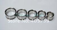 Wholesale Body Piercings - Silver Flesh Tunnels Internally Threaded Ear Plugs Titanium Trumpet-shaped Fashion Ear Piercing Body