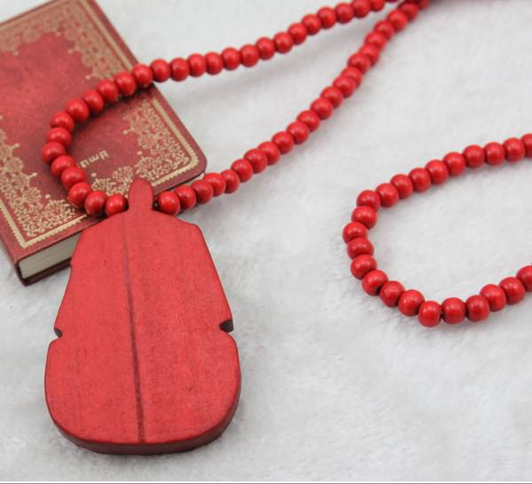 10% off!Hip Hop HIPA Pharaoh Piece Good Wood NYC Necklace Rosary Beads Necklace