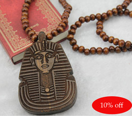$enCountryForm.capitalKeyWord Canada - 10% off!Hip Hop HIPA Pharaoh Piece Good Wood NYC Necklace Rosary Beads Necklace