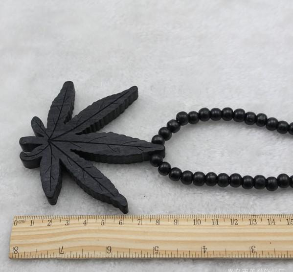 HOT NEW!10% off!Hip Hop Leaf rosary pendant beads necklace Good wood UK NYC necklace