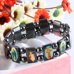 Wholesale Cheap Bead Sliders - Brand New 20% off! Rosary Beads Bracelets Good wood UK Religious Jesus bracelets Cheap Price 12pcs lot
