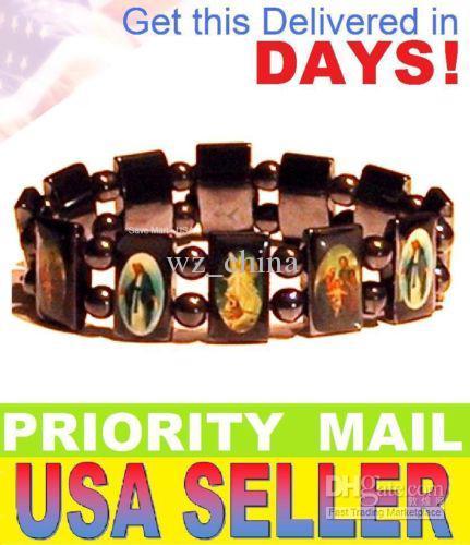 Prix bas! 20% de réduction! Bracelets d'amitié de chapelet Bonne Bois Royaume-Uni Jésus Jésus Jésus Mens Black Juiflery /