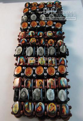 Hotsale!20%OFF!ロザリオビーズブレスレットグッドウッドイギリスの宗教イエスブレスレット工場価格真新しい12ピース/ロット