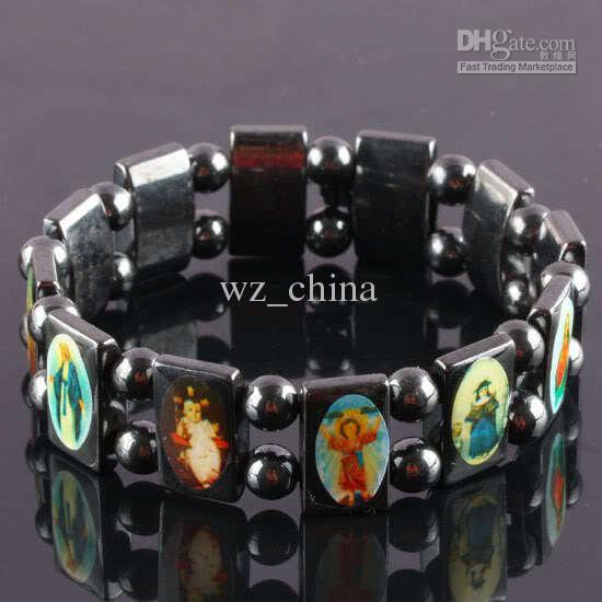Helt ny 20% rabatt! Rosary Beads Armband Bra Wood UK Religiösa Jesus Armband Billiga Pris 12st /