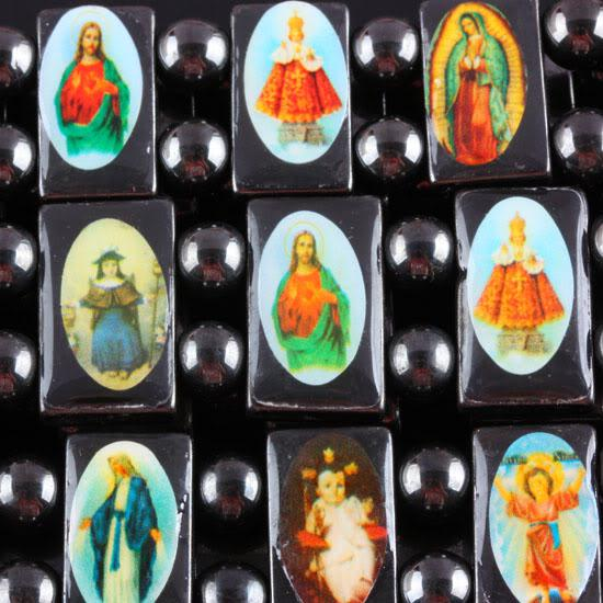 20% zniżki! Dobry drewno Jezus Męskie Biżuteria Stretch Bransoletka Religijna Różaniec Przyjaźń Bransoletki Brand New Darmowa Wysyłka