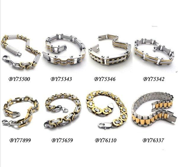 2019 316L Stainless Steel Bracelets Men's Bracelets Snake Chain & Link Chains Bracelet ...