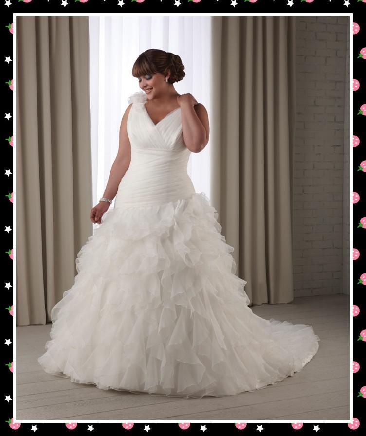 Plus Size Wedding Gowns Uk: Discount Cheap Sexy White Plus Size Wedding Dresses Bridal