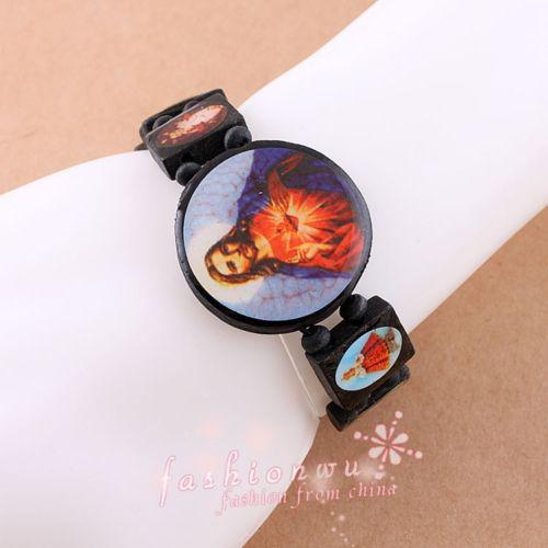 20% AV! Bra trä Jesus Piece Smycken Stretch Armband Religiösa Rosary Beads Friendship Armband Fabrikspris Gratis Shiipping