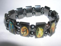 Jungfrau armbänder online-20% Rabatt! Vintage Religiöse Jesus Armbänder Jungfrau Maria Glas Magnetische Freundschaft Armband Gute Holz Stil Fabrik Preis