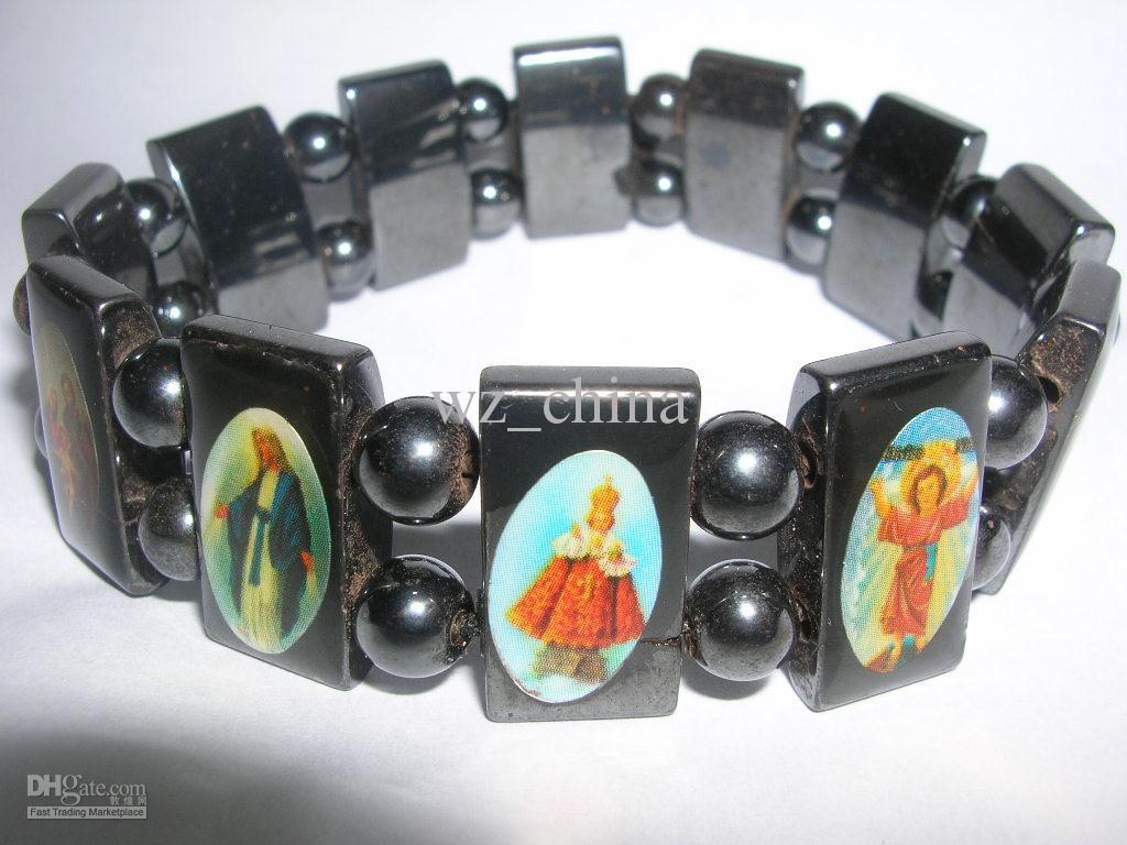 20%オフ!ヴィンテージ宗教的なイエスブレスレット聖母マリアガラス磁気友情ブレスレット良い木材スタイル工場Price