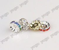 Wholesale Spike Beads Earrings - Wholesale 10mm 400pcs Crystal Rhinestone Round Rhinestone Beads For Making Basketball Wives Hoop Earrings,Jewelry Finding Loose Bead RRB1201
