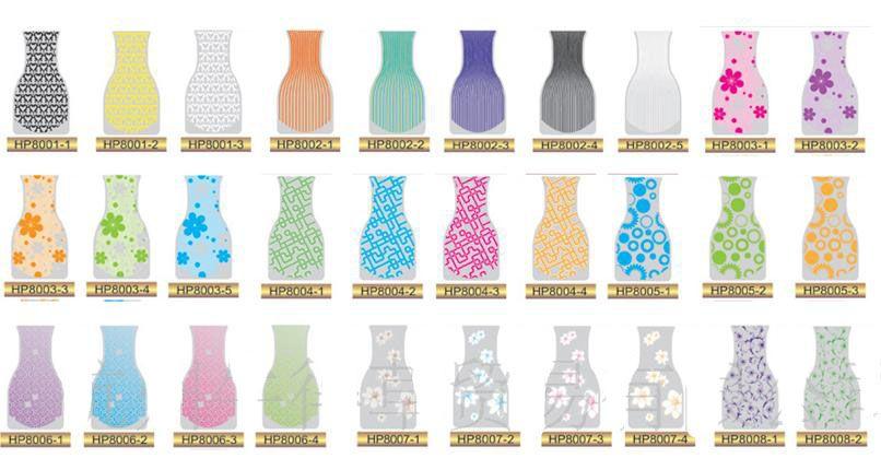 El florero plegable del PVC del florero del PVC del florero plegable del PVC del florero plegable de DHL muchos diseña tamaño S