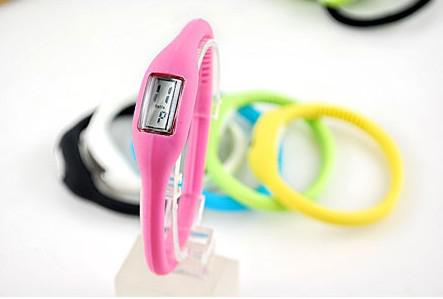 Silicon Sport Ion Silicone Candy Jelly Watch, Digital Anion Wrist Watches With Opp Bag