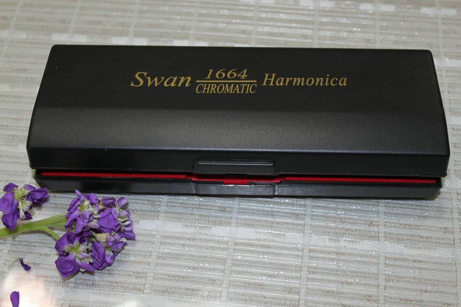 Alta cassa cromata armonica a 16 buche 64 toni