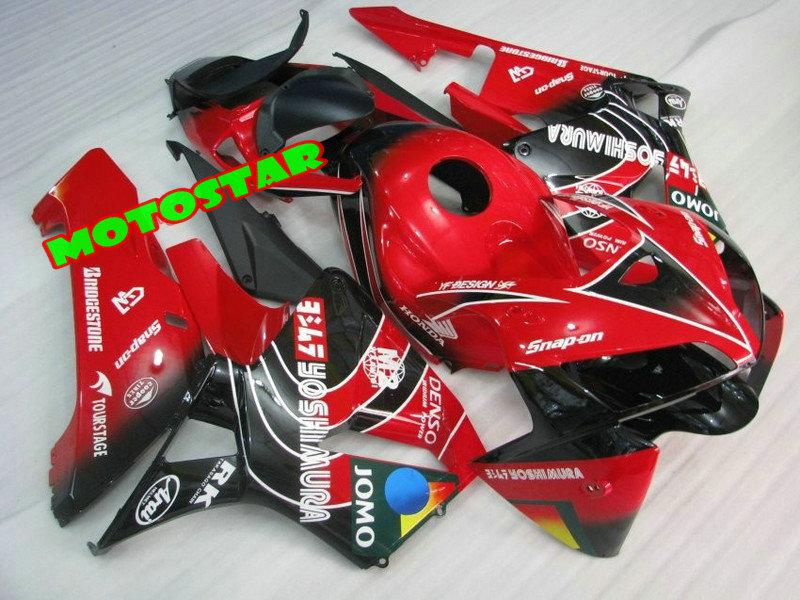Red black ABS Motorcycle Fairings for CBR600RR 2005 2006 CBR 600RR cbr600 F5 05 06 Injection mold
