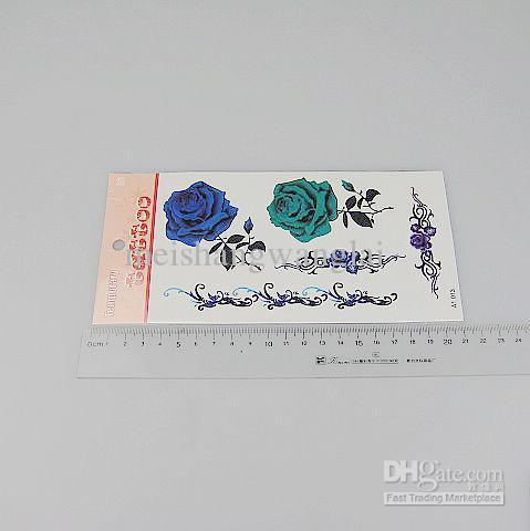 / Tatouage Temporaire Autocollants De Tatouage Pour Body Art Peinture Mélange Imperméable À L'eau Designs Ordre A1-47
