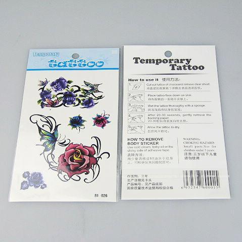 50 stks / partij Tijdelijke tatoeages Tattoo Stickers voor Body Art Painting Waterproof Mix Designs Tattoo B0-59