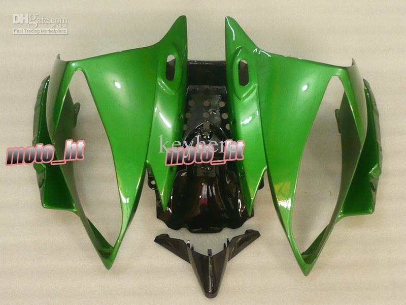 Gratis Ship Alla Green ABS Fairings för YZF-R6 2006 2007 YZF R6 06 07 YZF600 YZFR6 06-07 Fairing Kit