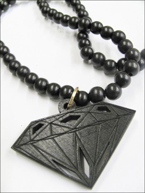 힙합 굿 우드 나이크 좋은 나무 다이아몬드 조각 묵주 목걸이 1 쌍 블랙 레드
