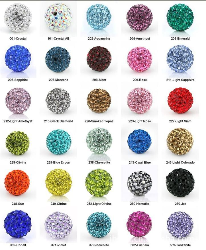 Shamballa argile Disco ball cristal strass perle amitié pavé bracelet bracelets
