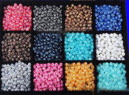 Wives Beads Canada - Hot sale a Mix 1000PCS Basketball Wives Crystal Beads Acrylic Loose beads fit Basketball Wive Earrings
