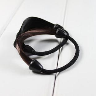 합성 포니 테일 홀드 erheadwear 블랙 / 라이트 브라운 / 다크 브라운 무료 배송 - 탄성 헤어 링 헤어 액세서리