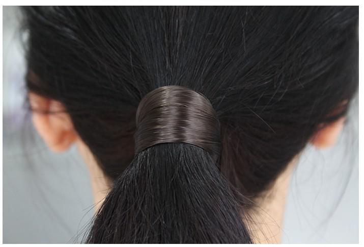 anneau libre de cheveux élastiques-expédition cheveux accessoires synthétiques Ponytail Tenir erheadwear noir / marron clair / marron foncé