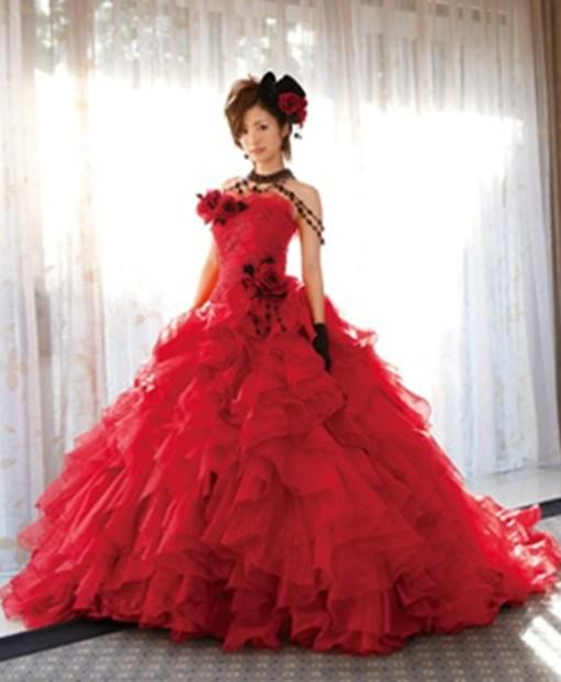 Beautiful Ball Gown Wedding Dresses: Beautiful Red Wedding Dresses Very Unique And Breathtaking