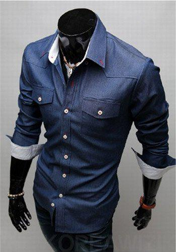 2017 Men Casual Shirt Men Business Shirt Stylish Men Shirt Men ...
