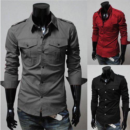 2017 Men Business Shirts Men Black Shirt Trendy Mens Shirts Men ...