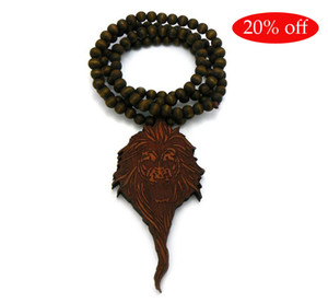 Wholesale king bead for sale - Group buy Hotsale Hip Hop Good wood king chain NYC Good Wood rosary beads necklace