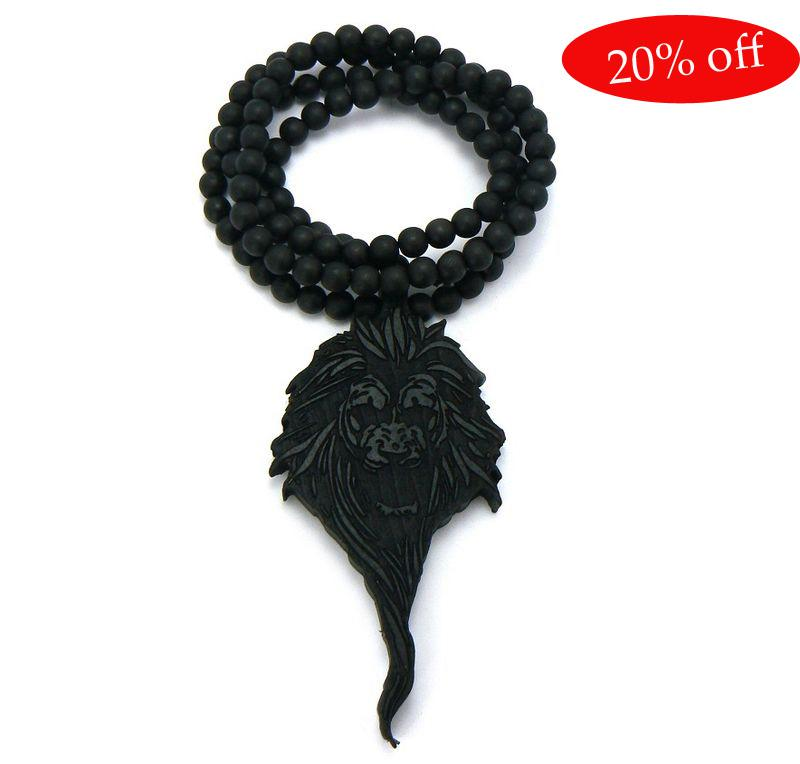 Hotsale! HIP HOP! Goede hout King Ketting NYC Goede Houten Rosary Beads Ketting