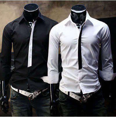 2017 Mens Shirts Fashion Luxury Dress Cool Men's Shirts Men Long ...