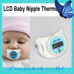 Wholesale Wholesale Oral Digital Thermometers - Wholesale   Retail 5 Brand New LCD Digital Infant Baby Temperature Nipple Thermometer