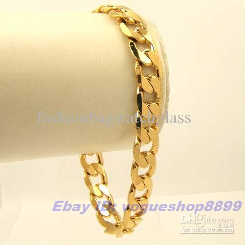2018 Mens Brand 18k Gold Gp Bracelet Solid Gep Chain From