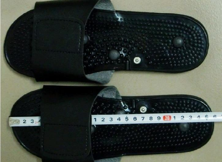 Magische therapie slipper / schoenen met tientallen acupunctuur therapie machine + elektrode pads, voetmassage