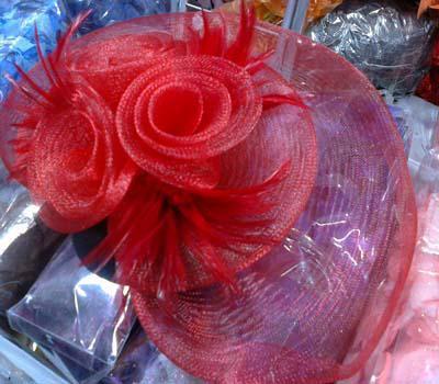 Mini Top Hat Fascinator Feather Birdcage Veil Tillbehör Fur Veil Bow Feather Barrette 20st / Lot # 1950