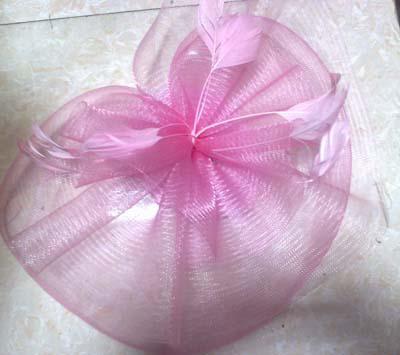 Fjäder hår mesh hatt Fascinator Clip Flower Wedding Party Fascinator / # 1952