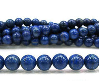 Wholesale Egyptian Lazuli Lapis - DIY semi-finished products 8mm Egyptian Lapis Lazuli Gem Round Loose Bead 15 inches