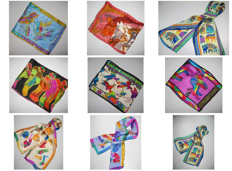 キューティーアニマルデザイン100%シルクスカーフスカーフシルクスカーフ20個/ロット#107