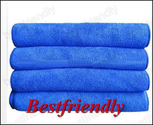 Car Serviette Véhicule Gant De Toilette De Nettoyage De Voiture Tissu À Laver 33x75 CM Superfine Fiber Bleu